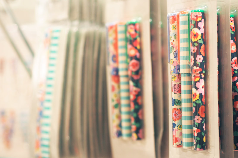 stylos fleuris