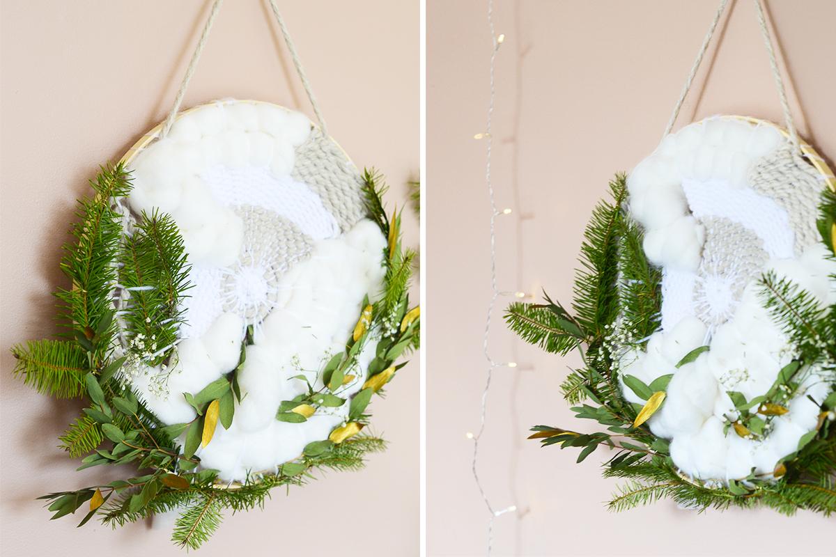 details-couronne-tissage-noel