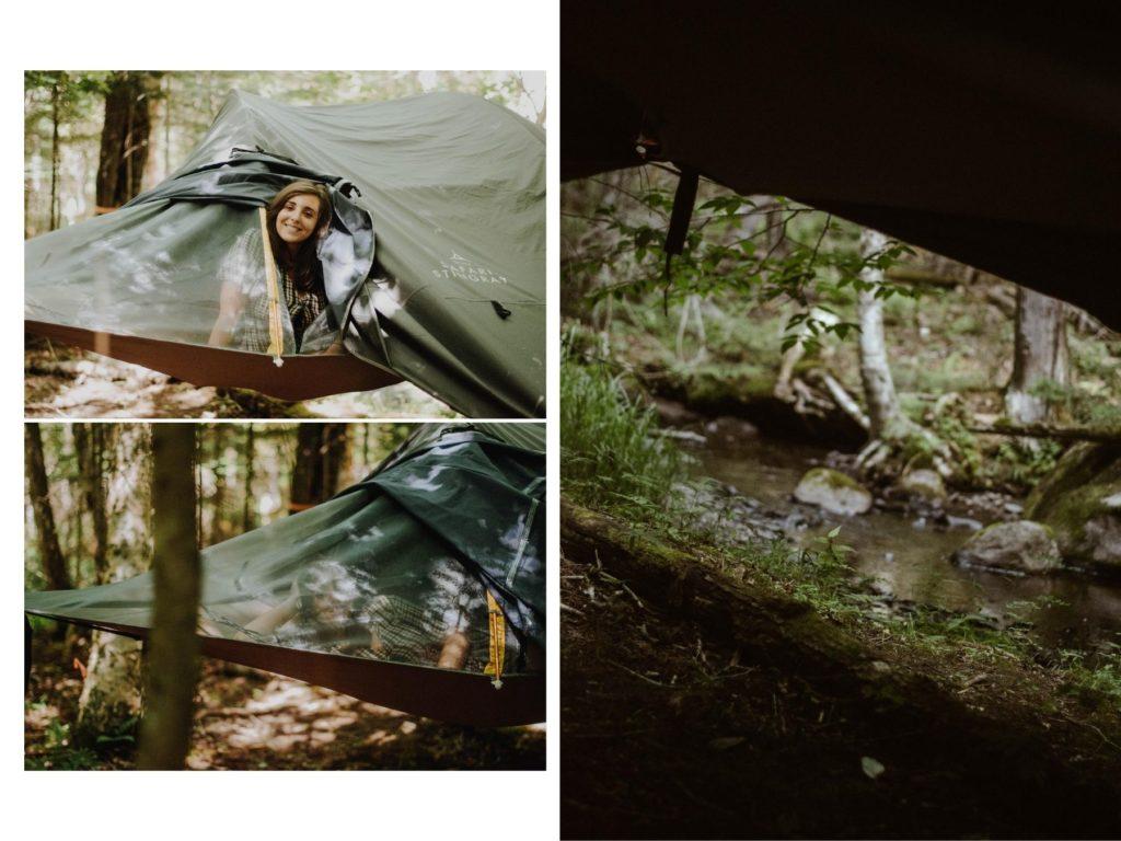 experience en tente suspendue quebec