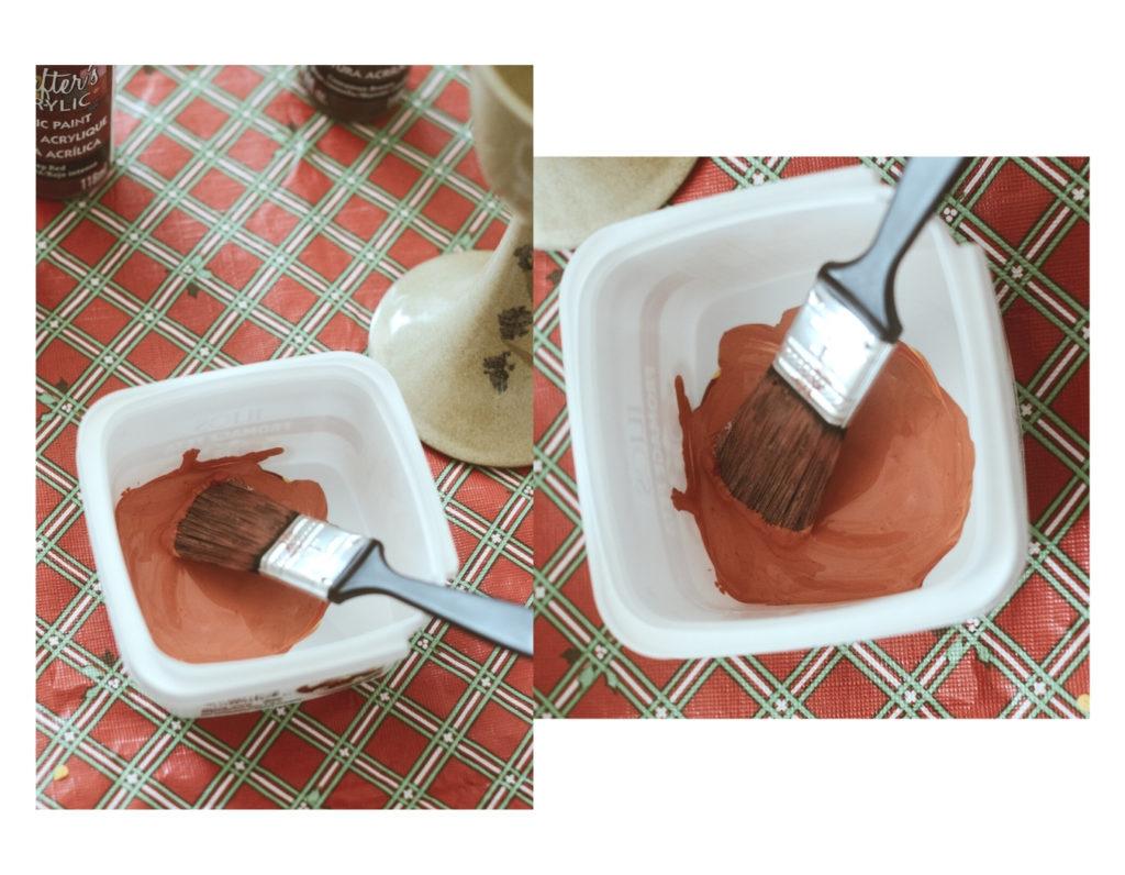 Comment obtenir teinte peinture terracotta melange facile