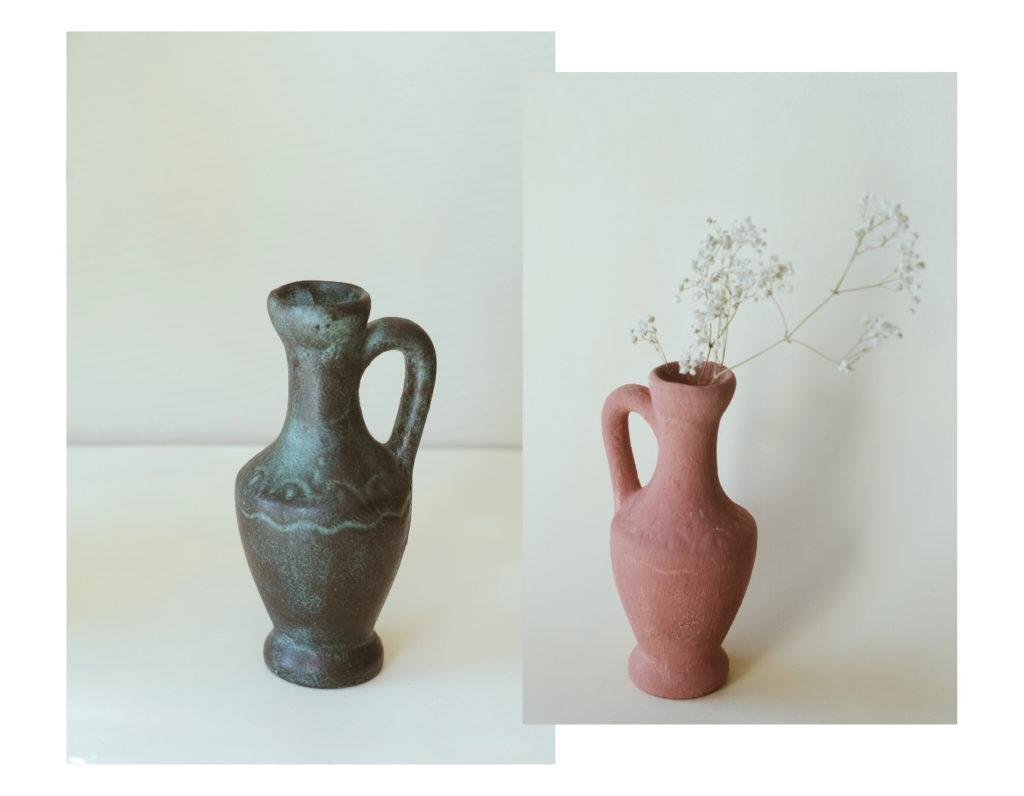 Transformer vieux vase et donner effet look terracotta