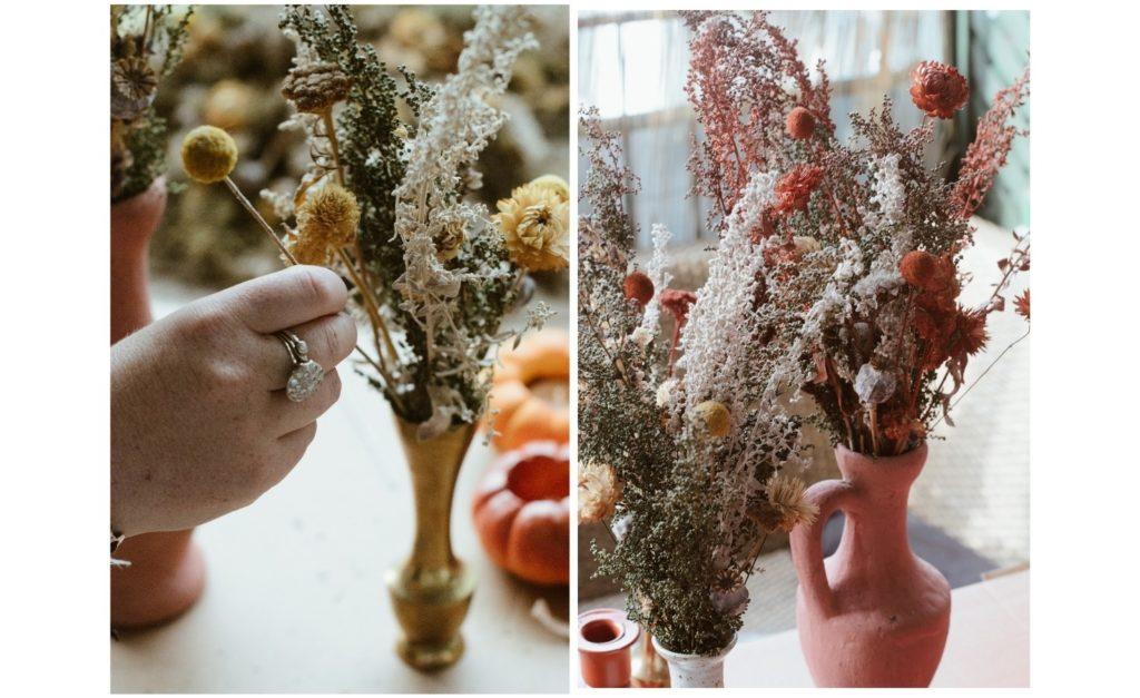 colorer bouquet de fleurs sechees tutoriel