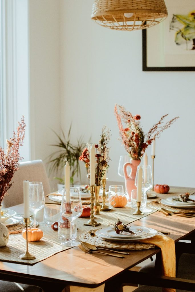 une table de thanksgiving zero dechet